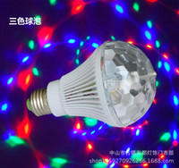 pequeño escenario de iluminación al por mayor-Fabricantes directos LED colorido mágico bola de cristal tornillo rotación mini láser etapa luz KTV pequeña barra de bola mágica