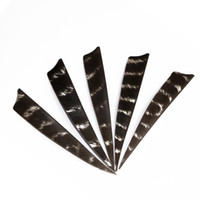 Wholesale Bamboo Arrows - 30pcs 4 Colors 4'' Left Wing Feathers for Glass Fiber Bamboo Wood Archery Arrows Hunting and Shooting Shield