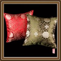 Wholesale Wholesale Cushions Silk - Pillow Case Car Home Sofa Cushion Mat Throw Flower 100% Silk Pillow Cover Decor christmas Decor Gift