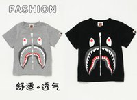 Wholesale Summer Outfits For Men - Summer Fashion Shark Baby Milo T Shirt Family Matching Dress Clothes Outfits For Dad Mom Son Daughter Women Men Kids Boys Girls