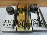 Set di Eyeliner di Kyliner Set di Eyeliner per l'Ombra dell'occhio a tre pezzi Set Kit di cosmetici di Kylie VS Kylie Mascara Kylie lip gloss In magazzino