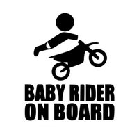 Wholesale Paddle Car - Baby Dirtbike Sticker Dirt Bike Motocross Stunts Motorcycle Paddles Car Stickers And Decals