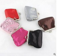 Wholesale Designer Cell Phone Pouch - Kids Sequins Coin Clutch Bags Children Sequins Purse Wallet Bags Cosmetic Bag Glitter Sequins Coin Bags Fashion Handbags Designer Pouch J88