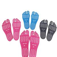 ingrosso piede appiccicoso-Adesivi Scarpe per Stick on Suole Sticky Pads Beach Sock Impermeabile Ipoallergenico Adesivo Foot Care Pad scarpe spedizione gratuita