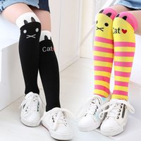 Wholesale Tights For Sale Wholesale - 1 Pair HOT SALE Toddlers Kids Girls Baby Knee High Stockings School Cotton Tights Striped Leg Warmers for 1-8 Years