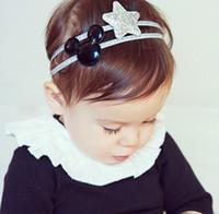 Wholesale Bling Bow Hair Bands - Cartoon baby headbands 2016 New Korean Star Bling Girl Hair bow Cute elastic cilp headbands for babies girls Hair Band 7416