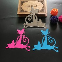Wholesale Antique Metal Cat - New Cute Cat Steel Metal Cutting Dies for DIY Scrapbooking Album Embossing Diary Invitation Card Decorative Craft Die Cuts