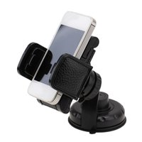 Wholesale Accesories For Cars - Wholesale- Leather Mobile Phone PDA Car Windscreen Suction Mount Holder Cradle Stand Suit for GPS Mobile Phone Car Accesories