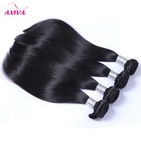 Wholesale Tangle Free Weaves - Mongolian Straight Virgin Hair Weave Bundles Unprocessed Mongolian Remy Human Hair Wefts Natural Black Extensions 100g Pieces Tangle Free