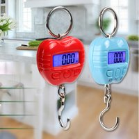 Wholesale Scale 25kg - Apple hook scale 25kg*5g Portable Mini Electronic Digital kitchen weighting portable balance led luggage Scales with backlight
