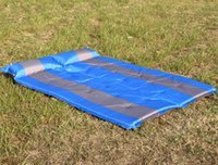 Vente en gros automatique 190 * 130 * 5cm coussin gonflable Camping Mat double air Mattress Camp Equipment