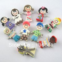 Wholesale Polymer Clay Making - Vintage Mixed Polymer Fimo Clay Girl Boy Charms Pendants For Bracelets Fashion Jewelry Making Findings Accessories Gifts Z2063