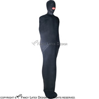 Wholesale Latex Catsuit Rubber - Black Sexy Latex Sleep Sack With Hood Zip At Back Bondage Rubber Body Bag Fetish Bodybag LTY-0002