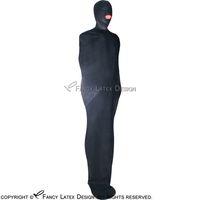 zip body sexy venda por atacado-Saco De Sono De Látex Sexy Preto Com Capuz Zip Na Parte De Trás De Borracha Bondage Body Bag Fetiche Bodybag LTY-0002
