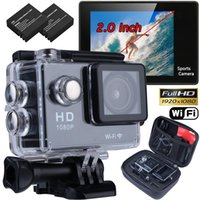 "Wholesale Mini Video Head Camera - Wholesale- WIFI Waterproof Sports Video Camera Ultra HD 4K 1080P 12MP 2.0"" Action DV Camcorder Travel Kit Mini Cam micro Camera kamera"