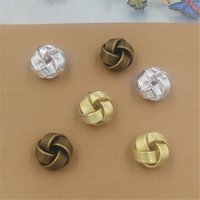 Wholesale Metal Crimps - BoYuTe 10Pcs 3 Colors 12MM HOT sale Fashion Beads Round newest Diy Metal Beads Jewelry Making
