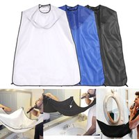 Wholesale new hair cutting men - New Man Beard Shaving Apron Wrap Facial Hair Beard Trimming Cutting Wrap Barbershop Dye Shaving Hair Collective Apron Cloth