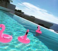 PVC gonfiabile Mini Beach Flamingo Drink Can Holder galleggiante per i giocattoli del partito dei capretti Piscina Bathing Beach Party per bambini bagno giocattolo Giocattoli