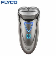 Wholesale Waterproof Shavers Men - FLYCO professional Electric Shavers for Men Waterproof Rechargeable Shaver Razor LED Power Display 1 Hour Fast Charge 220V FS858