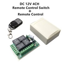 Wholesale rf 433mhz - Wholesale-433Mhz Universal Wireless Remote Control Switch DC12V 4CH relay Receiver Module and RF Transmitter 433 Mhz Remote Controls