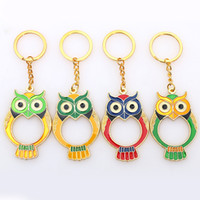 Wholesale owl baby shower party favors resale online - Cartoon Bottle Opener Alloy Owl Keychain Keyring Favors And Gifts For Wedding Baby Showers Birthday Party Gifts ZA3817