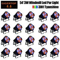 TIPTOP Factory Low Price 20 Pack 54 x 3 W 130W Efecto Windmill RGB Led Par Light 3CH / 6CH / 10CH Tyanshine RGB Fan LED giratorio Cool 25 Beam