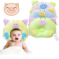 Wholesale Infant Pig - 1 PC 2016 New Year Hot Newborn Infant Soft Baby Infant Pillow Bedding Pig Shape Baby Shaping Anti-Apnea Cartoon Pillow H-2042