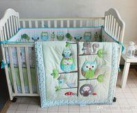 juego de cama de beb espaol pcs boy set de cama de cuna bho en rbol home inc edredn cuna acolchado cubierta de colchn colchn de polvo