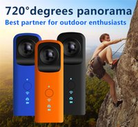 Wholesale New Video Cameras - New Arrival Handhold 720 Degree Panorama Camera HD Dual Lens VR Video Camera Recorder Panoramic Cam 6 Modes WiFi Action Sports DV