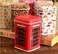 Vente en gros Metal Little Tin Box Cute Caddy Cartoon Storage Pratique Mini Iron Square Box en étain Livraison gratuite