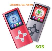 Wholesale Radio Housing - Wholesale- Qinkar 8GB sport MP3 slim music player cross button metal housing 1.8inch screen record ebook video MP3 player