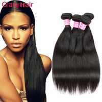 Wholesale Processed Weave Remy - None Processing Human Hair Bundles Brazilian Virgin Hair Straight Weave Extensions Unprocessed Mink Cheap Remy Human Hair Wefts 5 Pieces lot