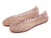 Wholesale Brides Slippers - Summer New Women's Crystal Shoes Bride Flat Ballerina Women Shoes Hollow out Slip on Beach slipper Sandals