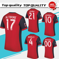 Wholesale Homes Toronto - 2017 Toronto FC home Soccer Jersey 17 18 #10 GIOVINCO Red Soccer Shirt Customized MLS football uniform Sales