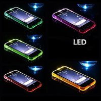 iphone coole transparente fälle großhandel-Cool Calling Light Up Fall für iPhone 8 7 6 Plus Ultra Thin TPU LED blinkende Beleuchtung Incoming Reminder Phone Cover für Samsung S8 S7 Hinweis 8