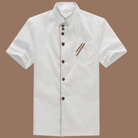 Wholesale Cooking Works - Wholesale Summer Kitchen Chef Jacket Uniforms Short Sleeve Hotel Cook Clothes Food Services Frock Coats Work Wear Chef Uniform