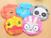 Wholesale lace bands for hair for sale - 100pcs Cute cartoon shower bath cap women hat for and saunas lace elastic band spa women kids hair protective cap