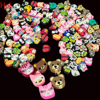 Wholesale fimo nail polymer - 100PCS Nail Art D Fruit Animal Flower Nail Decoration Candy Mixed Designs Tiny Fimo Slices Polymer Clay Nail Sticker Decal With Hole