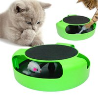 Wholesale Moving Mouse - Cat Play Toy Rotating Mouse Kitten Toy Pet Kitten Catch The Moving Mouse Plush New green