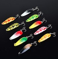 Wholesale Metal Lure 5cm - 10-colors 5cm 6g Sequins Fishing Hooks Lures Metal Baits Fishhooks Artificial Pesca Tackle Carp Fishing Accessories