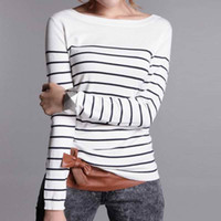 Wholesale Winter Clothes Lowest - Wholesale-LOWEST PRICE Hot Sales Women's Knitted Cashmere Sweater Stripe Woman Winter Clothes Pullover High Quality Free Shipping