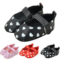 Wholesale wholesale shoe soles for babies for sale - Baby Prewalker Lovely Heart Princess Shoes Anti slip Soft Sole Infant Moccasins for Girls Infant Walking Shoes
