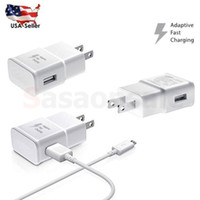 Wholesale Hq Free - NEW Fast Charging Charger Adapter For Samsung Galaxy S6 S7 Note 4 5 Cable 5Ft HQ DHL free