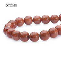 Loose Natural Stone Gold Sand Stone Круглые бусины Gemstone 4-14мм Fashion Jewelry Strand для DIY S-072 Stome