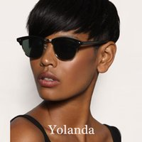 Wholesale Sexy Straight Black Hairstyle - Human Hair Wigs brazilian Hair Wig Sexy Classic Wigs short straight wig Free shipping New hairstyle Trends Retro wigs