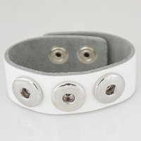 ingrosso base per gioielli-Partnerbeads Bracciale Snap in pelle Gioielli Snap Basic economici Fit 20mm Ginger Snap button e Noosa Chunks KB0001