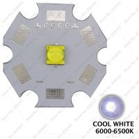 Wholesale 1w Emitter - Wholesale- 5PCS Cree XLamp XTE XT-E Cool White 6500K 1W 3W 5W LED Light Emitter Bulb Optional 8mm 12mm 14mm 16mm 20mm PCB