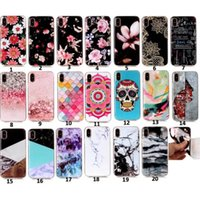 Mode Fleur Marbre TPU souple IMD Case pour Iphone X 8 7 Plus 6 6S SE 5 5S Silicone Skull Pierre Snake Scale Donuts Dreamcatcher Skin Cover