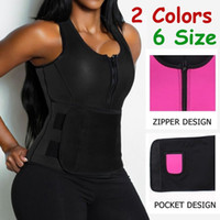 Wholesale Sweat Sauna Belt - Women Neoprene Sauna Waist Trainer Vest Hot Shaper Summer Workout Shaperwear Slimming Adjustable Sweat Belt Fajas Body Shaper