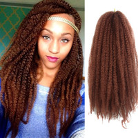 Wholesale afro twist braiding hair for sale - Group buy marley braids Afro kinky curly hair extensions synthetic afro twist curly marley braiding hair crochet braids hair weave bolote